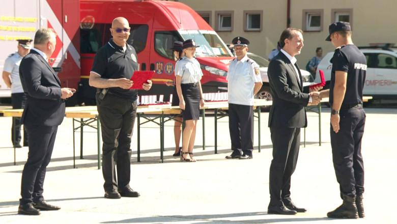 Florin Cîțu premiază pompierii care au fost în Grecia