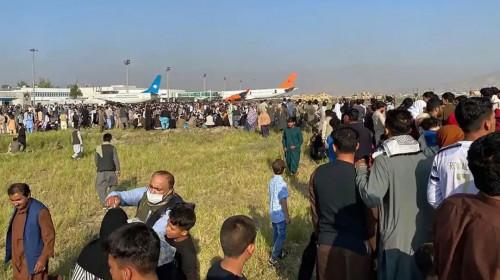 Busculadă la Aeroportul din Kabul, Afganistan