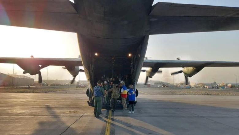 Avion militar de evacuare a românilor din Afganistan, Kabul