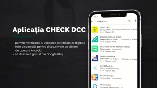 Aplicația Check DCC de verificare a certificatului verde digital