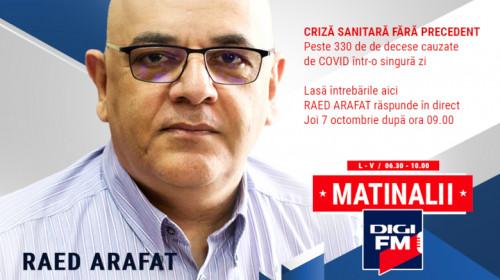 Raed Arafat la Matinalii Digi FM