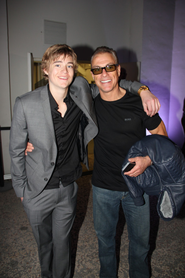 Jean-Claude Van Damme And His Son Attend Radio FG Anniversary