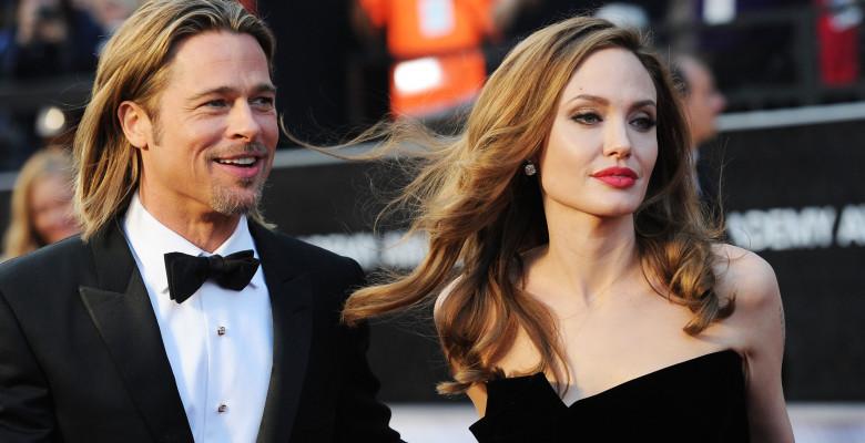 Brad Pitt și Angelina Jolie, în 2012