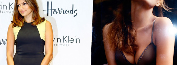 Eve Mendes Appears At Harrods To Promote Calvin Klein Underwear