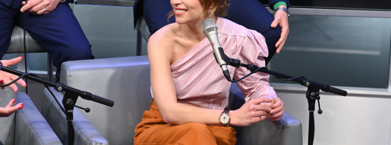 SiriusXM Town Hall Special With The Cast Of 'Last Christmas' Hosted By SiriusXM's Jessica Shaw At The SiriusXM Studios In New York City