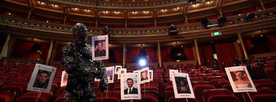 BAFTA's Heads On Sticks Photocall