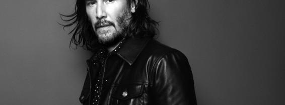 Keanu Reeves pose pour la campagne de Saint Laurent