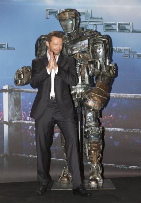 Hugh Jackman bei einem Photocall zum Film Real Steel in München
