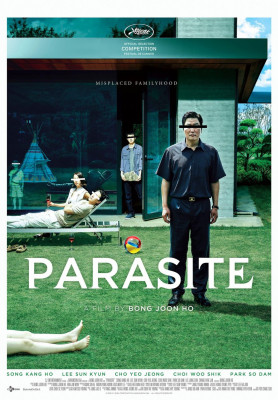 Parasite [Gisaengchung ] (2019) directed by Bong Joon Ho and starring Kang-ho Song, Sun-kyun Lee and Yeo-jeong Jo. A poor family ingratiates itself with a wealthy family leads to unexpected results in this clever South Korean thriller.