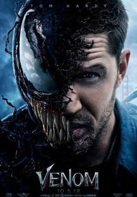 Venom (2018) directed by Ruben Fleischer and starring Tom Hardy, Michelle Williams and Woody Harrelson. Eddie Brock comes into contact with an alien Symbiote and together they become the anti-hero Venom.