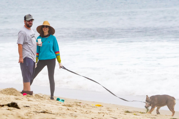 *EXCLUSIVE* Adam Sandler out enjoying a beach day with his wife Jackie