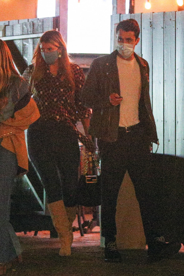 EXCLUSIVE: Mischa Barton and Gian Marco Flamini Head Out to a Sports Bar to Watch The NBA Finals in Santa Monica, California.