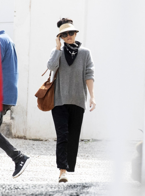 *EXCLUSIVE* American actress Dakota Johnson looks relaxed as she'ss pictured enjoying a stroll on the Greek island of Spetses.