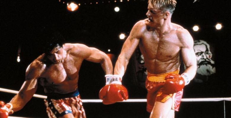 ROCKY IV (1985) - Dolph Lundgren și Sylvester Stallone. Foto: Profimedia