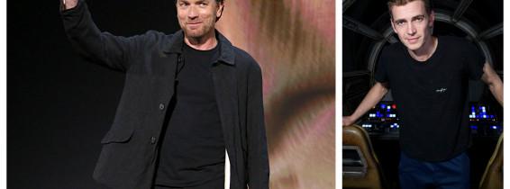 Ewan McGregor și Hayden Christensen