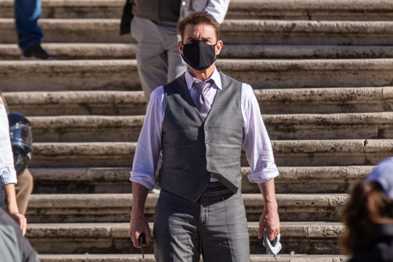 'Mission Impossible 7 - Libra' on set filming, Rome, Italy - 22 Nov 2020