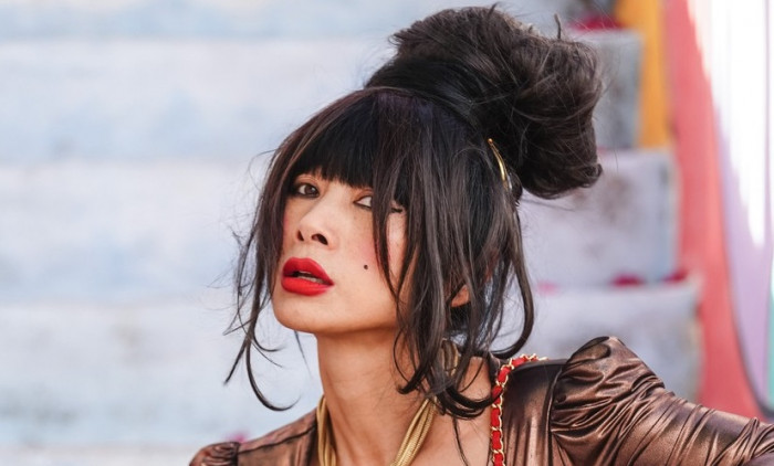 Bai Ling  goes shopping in Silver Lake