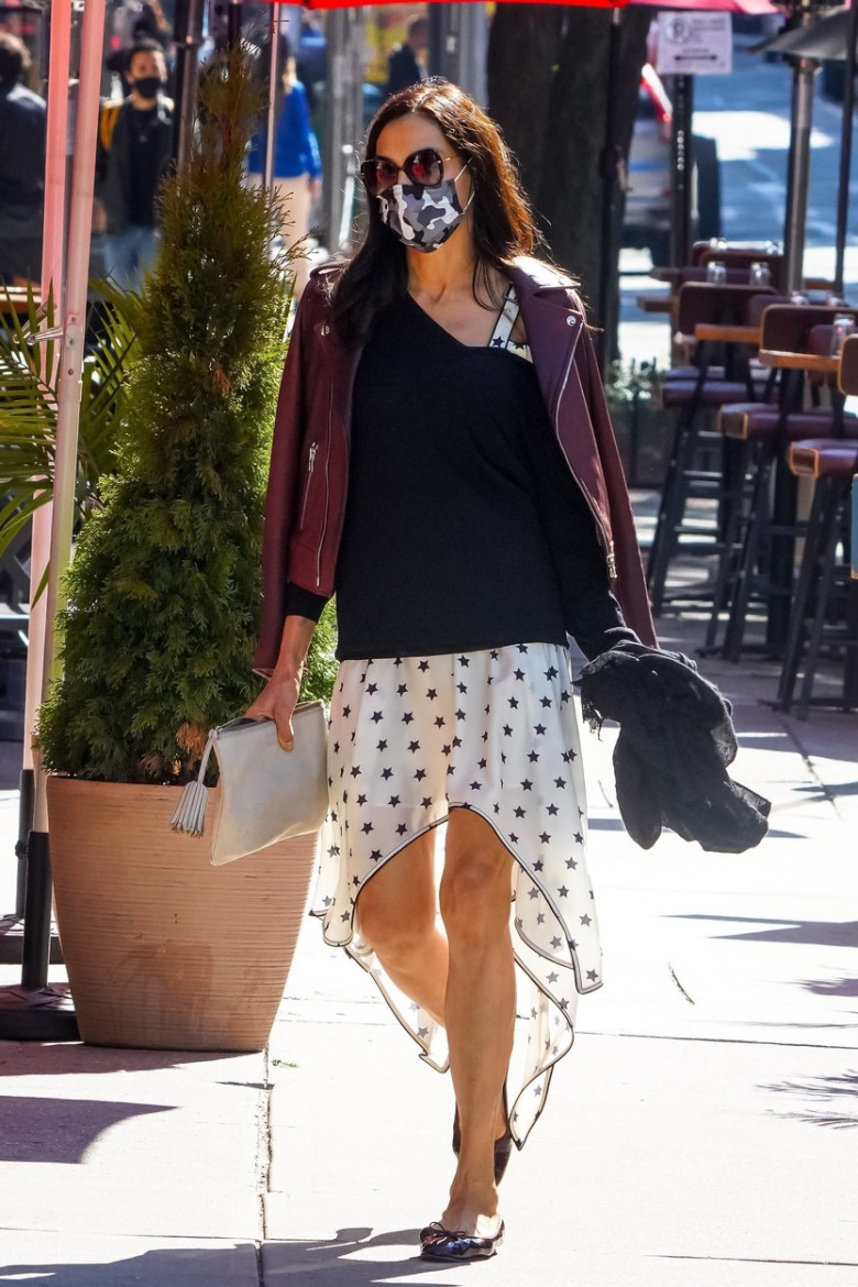 *EXCLUSIVE* Famke Janssen keeps her style on point while out in New York City