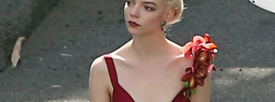 Anya Taylor-Joy on the set of David O. Russells untitled new film