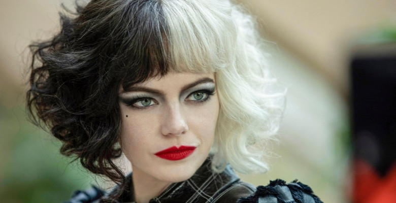 Cruella (2021) directed by Craig Gillespie and starring Emma Stone as a young Cruella de Vil from Dodie Smith's 1956 novel 'The Hundred and One Dalmatians' and Disney's much loved 1961 animated film.