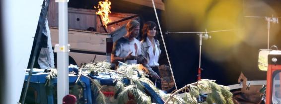 *EXCLUSIVE* **WEB EMBARGO UNTIL 3/6/21 AT 1PM EST** Brad Pitt and Sandra Bullock continue filming