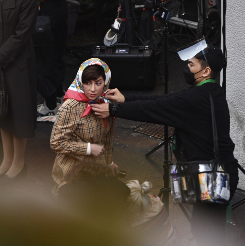 Lady Gaga and Adam Driver filming House of Gucci in Milan