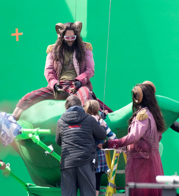 EXCLUSIVE: FIRST LOOK Jason Momoa with a Full Set of Horns on Set filming 'Slumberland' in Toronto