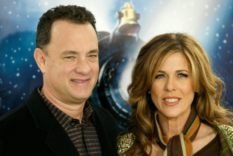 Tom Hanks and his wife, Rita Wilson, at the premiere for 'Polar Express' on November 7, 2004 in Los Angeles, California. Photo credit: Francis Specker
