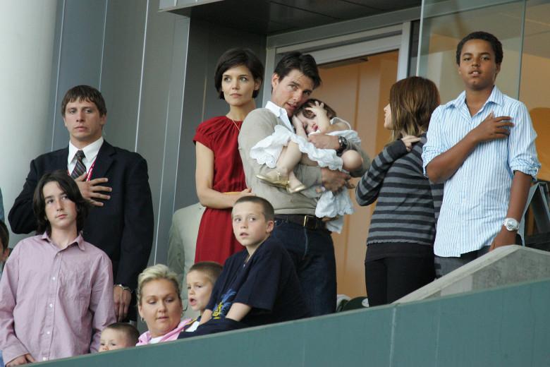 Tom Cruise, Katie Holmes & Family Watch New York Red Bulls v LA Galaxy