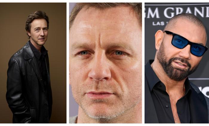 Edward Norton, Daniel Craig, Dave Bautista