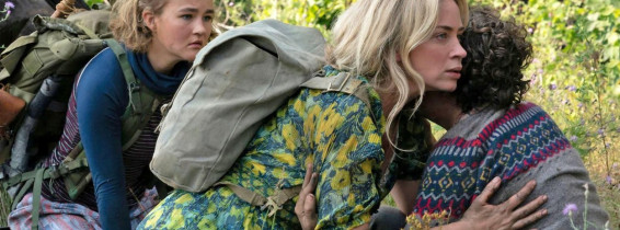 A QUIET PLACE PART II   2020 Paramount Pictures film with from left: Millicent Simmonds, Emily Blunt, Noah Jupe