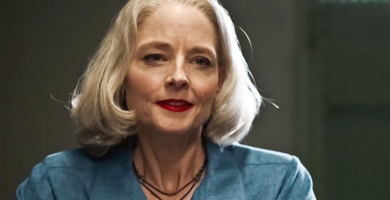 USA. Jodie Foster   in a scene from the ©STX Entertainment new film: Prisoner 760 ( The Mauritanian- original title) (2021). Plot: A detainee at the U.S military's Guantanamo Bay detention center is held without charges for over a decade and seeks help f