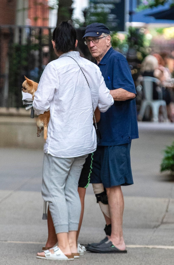 EXCLUSIVE: Robert De Niro Walks With Leg Brace And Cane As He Is Seen Out In NYC For The First Time Since Injury On Set Of Scorcese's - Killers Of The Flower Moon