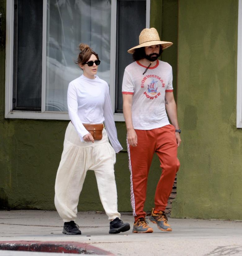 EXCLUSIVE: Elizabeth Olsen Packs on PDA With Fiance Robbie Arnett in Los Angeles.