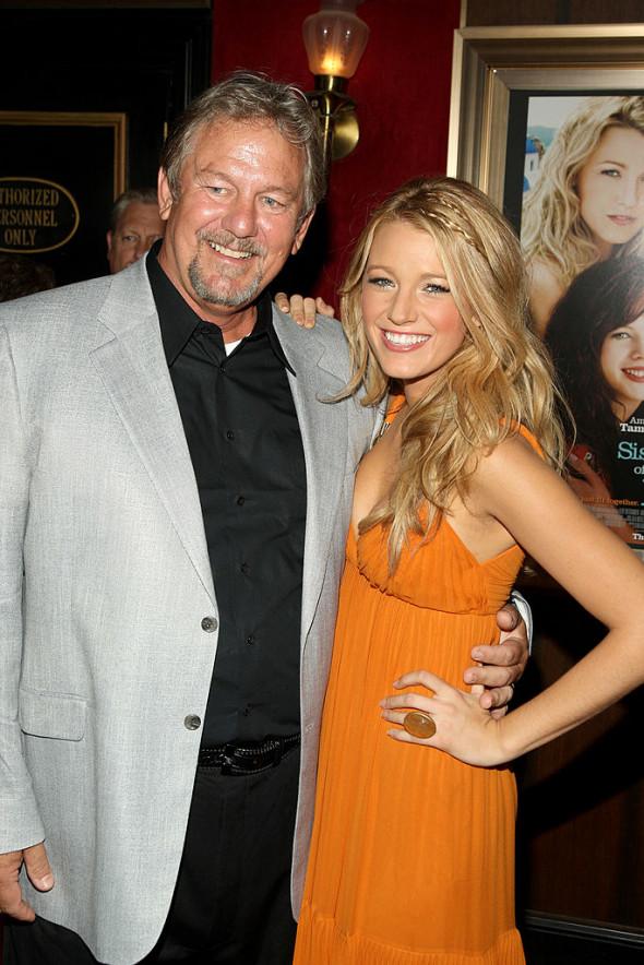Blake Lively, alături de tatăl ei