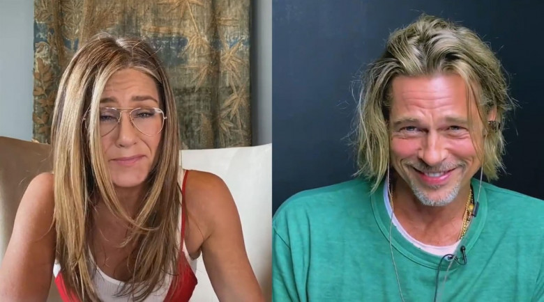 Brad Pitt and Jennifer Aniston reunite to read saucy script scenes during charity all-star table read of Fast Times At Ridgemont High