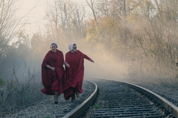"""Stills from the TV series """"The Handmaid's Tale"""""""