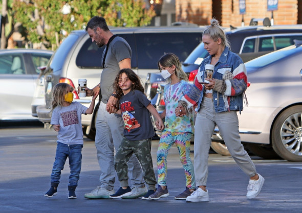 *EXCLUSIVE* Sharna Burgess plays stepmom to Megan Fox's kids while the actress spends time with Machine Gun Kelly