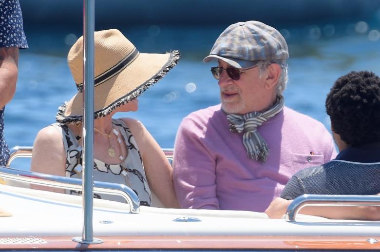 Steven Spielberg și sotia lui, Kate Capshaw, în Franța