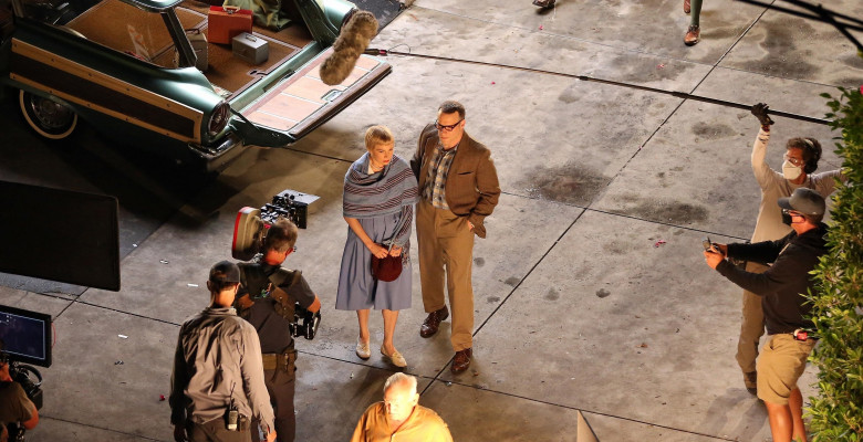 *EXCLUSIVE* Michelle Williams and Seth Rogen filming scenes for The Fabelmans