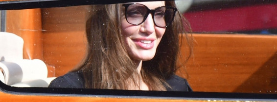 The American Hollywood Actress Angelina Jolie looked chic and stylish as she arrived on holiday out in Venice.