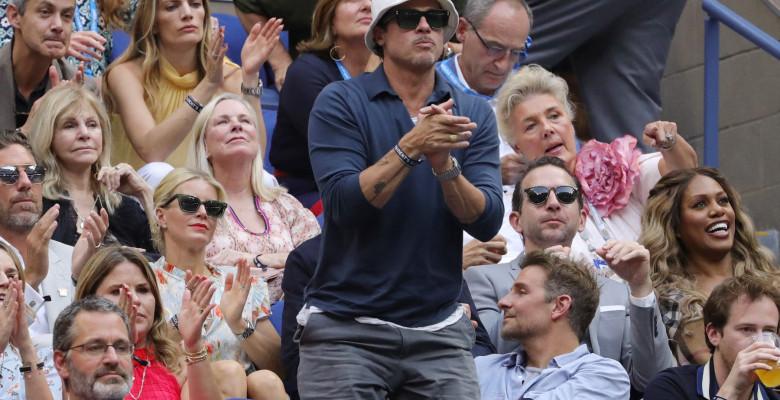 Brad Pitt și Bradley Cooper, la finala US Open 2021