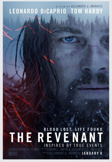 THE REVENANT, US advance poster, Leonardo DiCaprio, 2015. TM and Copyright