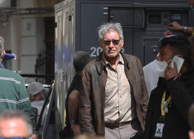 Indiana Jones began shooting in Cefal� with Harrison Ford and Mads Mikkelsen
