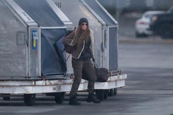 Jennifer Lopez la filmările pentru The Mother,