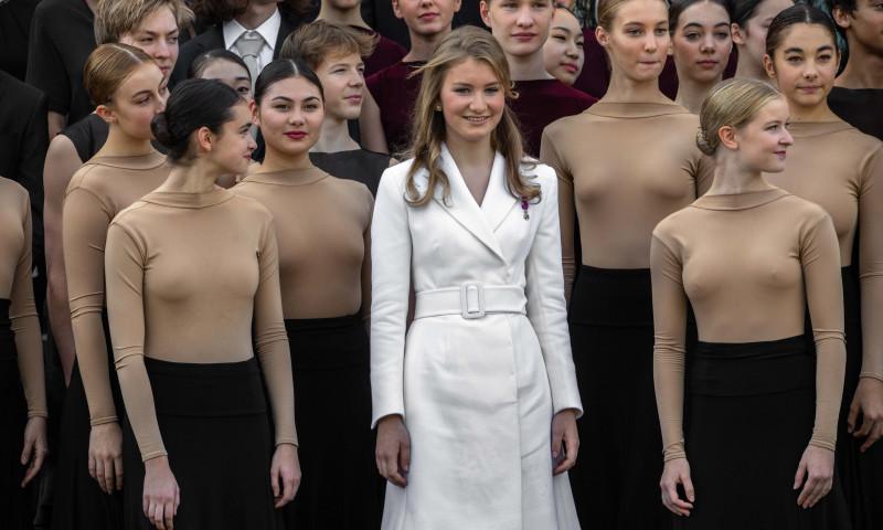 Elisabeta a Belgiei la Palatul Regal din Bruxelles