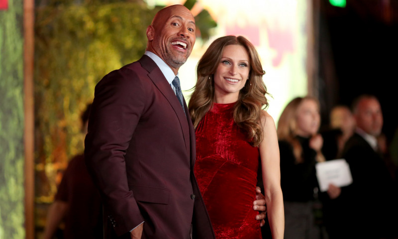 dwayne the rock johnson sotie lauren