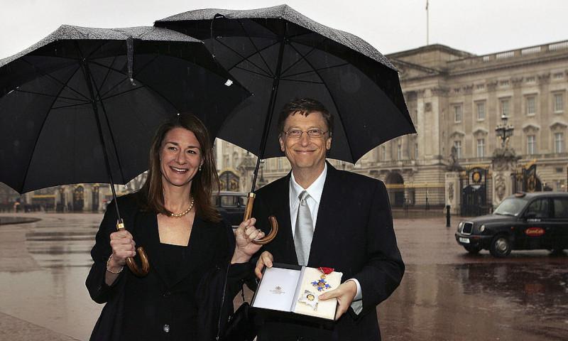 Bill și Melinda Gates, Londra, 2005
