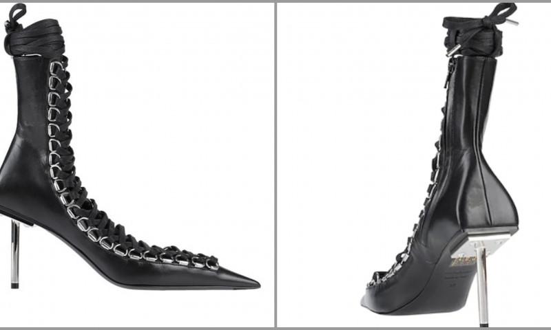 balenciaga corset boots