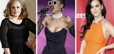 Adele  Rihanna Katy Perry